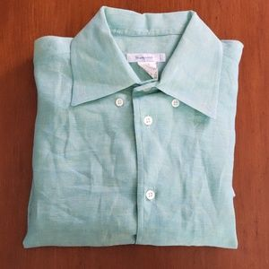 Giampaolo Made in Italy Linen Button Down Shirt
